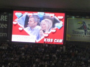 More Kiss Cam! C'mon guy, kiss her!