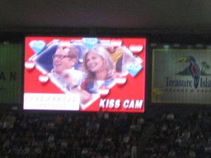 Kiss Cam! Everyone wants to make out!